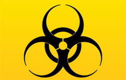 biohazard from pesticides on cannabis